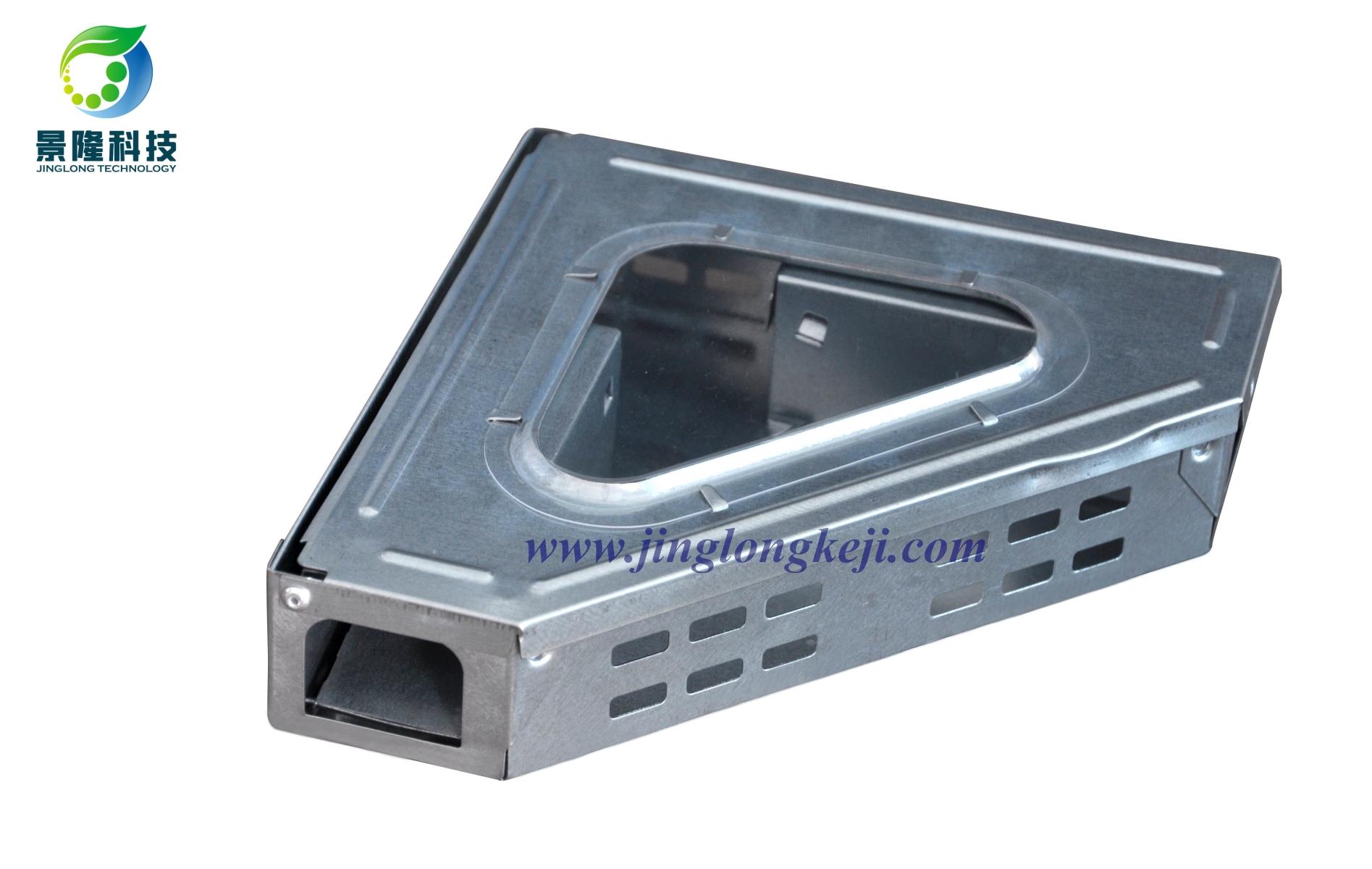 景隆JL-3008三角视窗捕鼠器 墙角专用连续捕鼠器